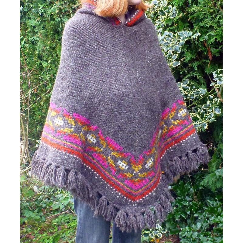 Image 1 de Karen à Sherpa - Women's Samchi Poncho - Veste en laine
