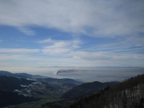 Inversion thermique dans la montagne de Kandel