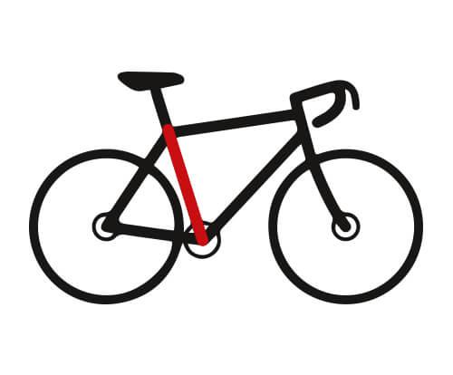 Mesurer la taille de cadre de vélo