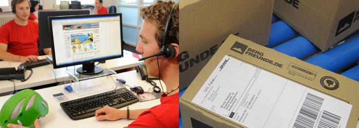 Nous sommes à vos côtés! Notre service clientèle conseille – la logistique assure une livraison rapide.